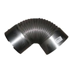 Spalinowe INNY RKCP 130 KOLANO PIECOWE CZARNE Z BLACHY 1MM 130MM PARNIKOWE 1,30mm