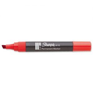 Markery SHARPIE I-S0192675 MARKER ŚCIĘTY CZERWONY W10 1.5-5.0MM ,marker