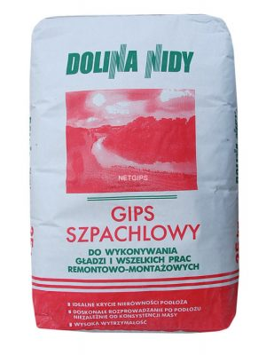 Gips Szpachlowy INNY 5GISZ.BIA15 GOLDMURIT GIPS SZPACHLOWY 15KG 15kg
