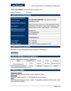 Specjalistyczne TYTAN KLEJ DEK 290 KLEJ DEKARSKI TYTAN 290ML 290ml