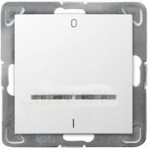 Impresja INNY E00001-10587 IMPRESJA ŁĄCZNIK DWUBIEGUNOWY Z PODŚWIETLENIEM BIALY biały
