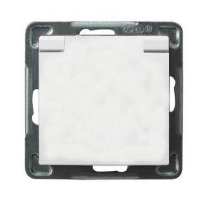 Impresja INNY E00001-10581 IMPRESJA GNIAZDO POJEDYŃCZE Z/U 16A IP44 Z KLAPKĄ BIAŁE białe