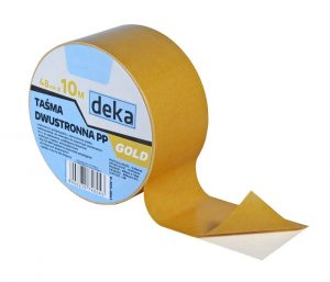 Uniwersalna DEKA D-300-0041 TAŚMA DWUSTRONNA PP GOLD 48MMx10M 48mmx10m