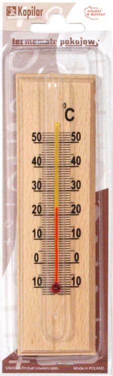 Termometry INNY T-TPDŚ TERMOMETR POKOJOWY DREWNIANY ŚREDNI drewniany