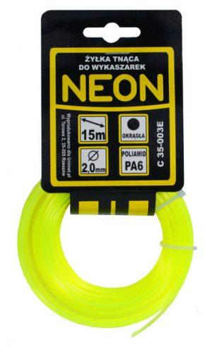 Okrągłe MCGARDEN C 35-005E ŻYŁKA DO WYKASZARKI OKRĄGŁA NEON 2.7MM 15M 2.7mm