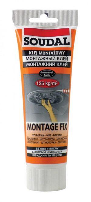 Do PCV SOUDAL KLEJ FIX250 KLEJ MONTAŻOWY MONTAGE FIX 250ML 250ml,
