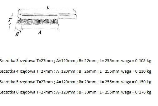 Rączka Drewniana INNY SZ 13 II SZCZOTKA DRUCIANA 3-RZĘDOWA 3-rzĘdowa