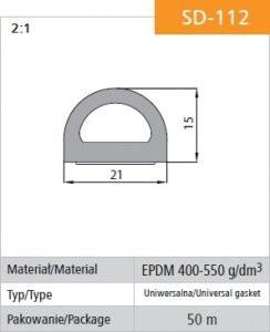 Gumowe STOMIL USZ SD-112 USZCZELKA SAMOPRZYLEPNA CZARNA SD-112-0 21x15MM MB 21x15mm