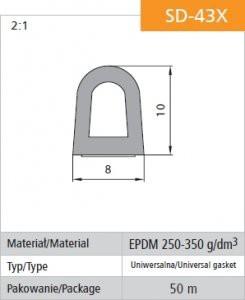 Gumowe STOMIL USZ SD-43X USZCZELKA SAMOPRZYLEPNA CZARNA DGP 8×10 8×10