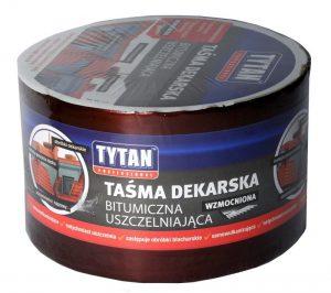 Taśma TYTAN TAS DEK 20 2 TAŚMA DEKARSKA TYTAN WZMACNIANA 20CMx10MB CZERWONY/CEGLASTY 20cmx10mb