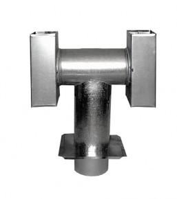 Ocynkowane INNY RDF HUMB 100 DEFLEKTOR HUMBERT OCYNKOWANY Z PŁYTĄ 100MM 10,0mm