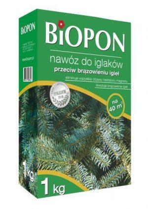 Nawozy i Odżywki BIOPON BR BIO-1055 NAWÓZ DO IGLAKów PRZECIW BRĄZOWIENIU IGIEŁ 1 KG bio-1055