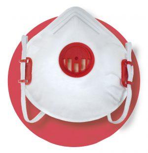 Ochrona głowy/twarzy INNY T-9910 Z-21V PÓŁMASKA FILTRUJĄCA X 210 V FFP2 NR D Z ZAWORKIEM ffp2