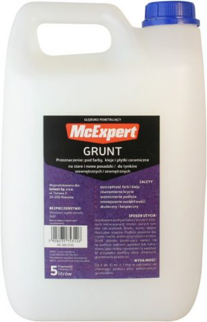 Grunty MCEXPERT MC-500-0150 GRUNT GŁĘBOKOPENETRUJĄCY 5L gŁĘbokopenetrujĄcy