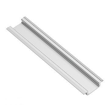 Oprawy Wpuszczane INNY V-GLAX-AL PROFIL ALUMINIOWY LED Z KOŁNIERZEM GLAX SILVER 2M WPUSZCZANY aluminiowy
