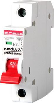 Wyłączniki Nad Prądowe INNY EX-P041009 WYŁĄCZNIK NADPRĄDOWY MCB.PRO60 1P B20A 6KA b20a