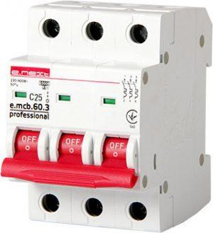Wyłączniki Nad Prądowe INNY EX-P042033 WYŁĄCZNIK NADPRĄDOWY MCB.PRO60 3P C25A 6KA c25a