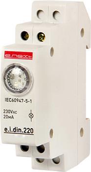Lampki Sygnalizacyjne INNY EX-P059005 LAMPKA SYGNALIZACYJNA NA SZYNĘ DIN E.I.DIN.220 BIAŁA biała
