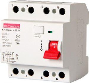 Wyłączniki Różnicowo-Prądowe INNY EX-P003018 WYŁĄCZNIK RÓŻNICOWOPRĄDOWY RCCB.PRO 4P 25A 30MA 30ma