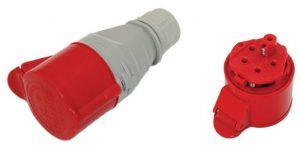 Gniazda Siłowe Przenośne TAREL EX-TGN-137 GNIAZDO IZOLACYJNE PRZENOŚNE 32A 400V CZERWONE 3P+N+Z IP44 3p+n+z