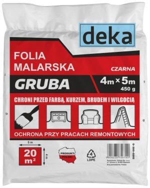 Ochronne DEKA D-300-0205 FOLIA MALARSKA GRUBA CZARNA 4x5M 450G 450g