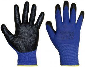 Ochrona rąk INNY REK PP026 8 RĘKAWICE POLIESTROWE POWLEKANE NITRYLEM NIEBIESKIE 8 niebieskie