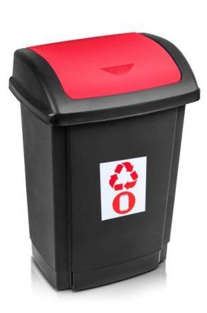 Na Odpady INNY POJ SW25CE POJEMNIK NA ODPADY SWING 25L POKRYWA CZERWONA czerwona,