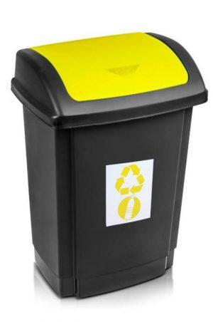 Na Odpady INNY POJ SW25ZO POJEMNIK NA ODPADY SWING 25L POKRYWA ŻÓŁTA odpady