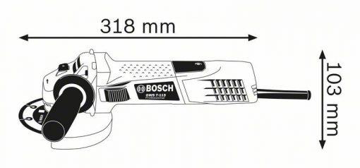 Kątowe BOSCH 601388108 SZLIFIERKA KĄTOWA 125MM GWS 7-125 720W RSP 125mm
