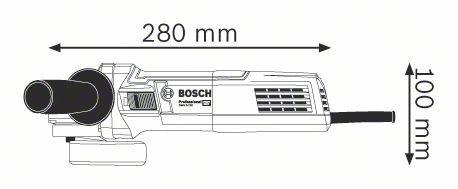 Kątowe BOSCH 601396007 SZLIFIERKA KĄTOWA 125MM GWS 9-125 900W 125mm