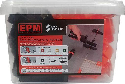 Akcesoria Glazurnicze EPM E-315-8801 SYSTEM UKŁADANIA PŁYTEK EASY LEVELING 50 KLIN+ 100 KLIPS 1MM akcesoria