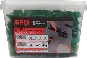 Akcesoria Glazurnicze EPM E-315-8830 SYSTEM UKŁADANIA PŁYTEK EASY LEVELING 200 KLIPSów 3MM akcesoria