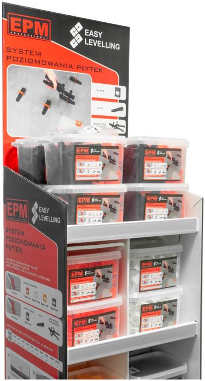 Akcesoria Glazurnicze EPM E-315-8810 SYSTEM UKŁADANIA PŁYTEK EASY LEVELING 200 KLIPSów 1MM akcesoria