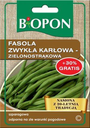 Warzywa BIOPON BR BIO-1442 FASOLA ZWYKŁA KARŁOWA JAGUSIA (ZIELONOSTRĄKOWA) 25G (zielonostrĄkowa)