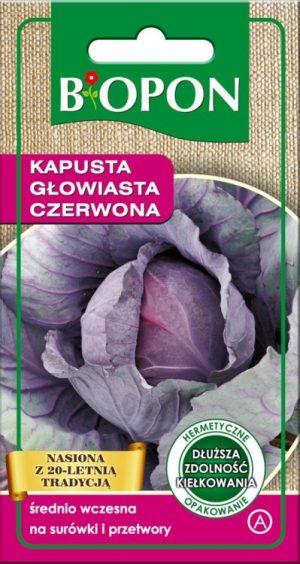 Warzywa BIOPON BR BIO-1455 KAPUSTA GŁOWIASTA CZERWONA 1G bio-1455