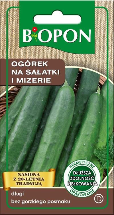 Warzywa BIOPON BR BIO-1469 OGÓREK NA SAŁATKI I MIZERIE 1.8G 1.8g