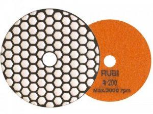Gładkie RUBI RI 62972 TARCZA DIAMENTOWA DO POLEROWANIA NA SUCHO FI 100 MM GR. 200 62972