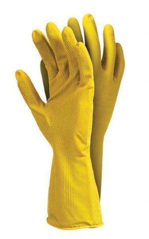Ochrona rąk INNY REK GU FL L RĘKAWICE GUMOWE FLOKOWANE 500 FY ROSE L flokowane