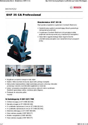 Bruzdownice BOSCH 601621708 BRUZDOWNICA GNF35CA 1400W 35MM 1400w