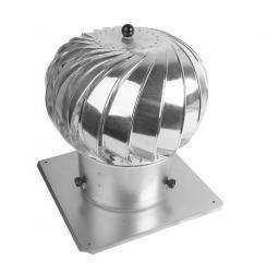 Aluminiowe INNY RKM TUR 150Z NASADA KOMINOWA OBROTOWA TURBO 150MM OCYNKOWANA 1,50mm