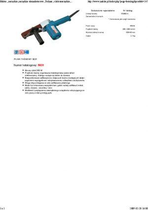 Pilniki Taśmowe MAKITA 9031 PILNIK TAŚMOWY 550W 533x30MM -pilniki