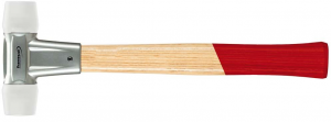 Młotki Mlotek z trzonkiem jesionowym 30mmz miekkim bijak.z nylonu FORMAT 30mmz