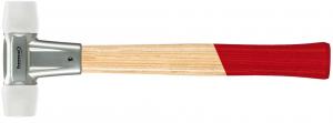 Młotki Mlotek z trzonkiem jesionowym 40mmz miekkim bijak.z nylonu FORMAT 40mmz