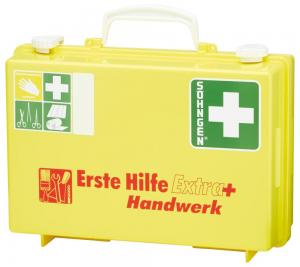 Bez kategorii Apteczka pierwszej pomocy Extra+Handwerk, DIN 13157, żółta 13157