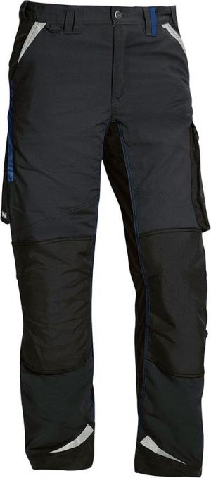 Odzież robocza B- spodnie Flexolution roz. 60, czarne/niebieskie czarne/niebieskie