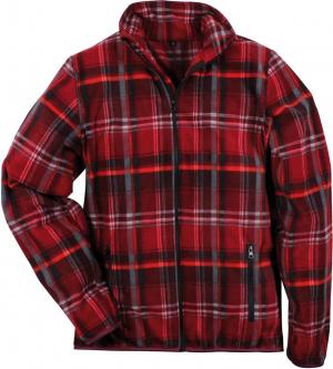 Bluzy Bluza polarowa Dolomit, rozmiar L, czerwona w kratę bluza,