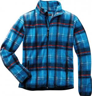 Bluzy Bluza polarowa Dolomit, rozmiar L, niebieska w kratę bluza,