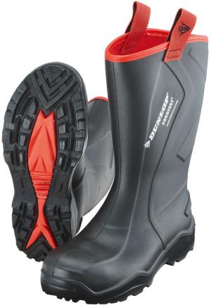 Ochrona stóp Buty Dunlop Purofort+ Rugged, rozmiar 48, czarne buty
