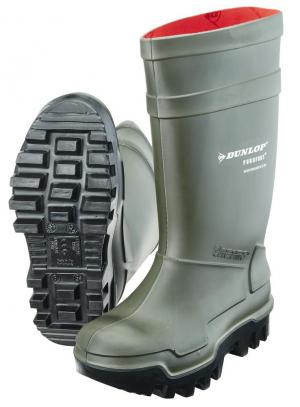 Ochrona stóp Buty Dunlop Thermo+ S5 CI SRC, rozmiar 42, zielone buty