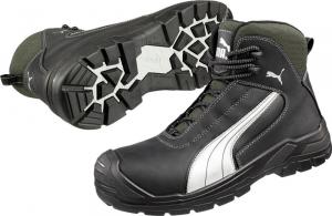 Ochrona stóp Buty Puma wysokie 630210, S3, roz. 42, czarny/srebrny Puma 630210,